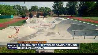 Skatepark Opens in Armada Township - Video