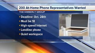 Workers Wanted: 200 at-home phone representatives wanted - Video