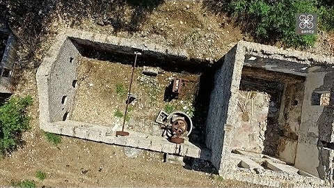 Ghost village of Greece as seen by drone