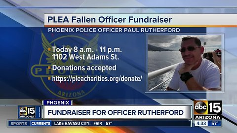 Fundraiser for fallen Phoenix Police Officer Rutherford