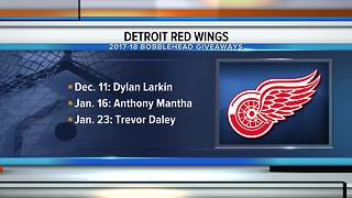 Red Wings promotional schedule includes 6 bobblehead giveaways - Video