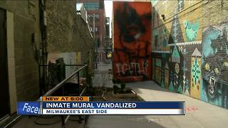 Black Cat Alley mural on Milwaukee's east side vandalized - Video
