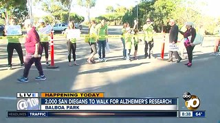 'Walk for Alz' brings thousands to Balboa Park to support Alzheimer's research - Video