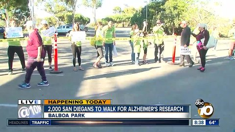 'Walk for Alz' brings thousands to Balboa Park to support Alzheimer's research