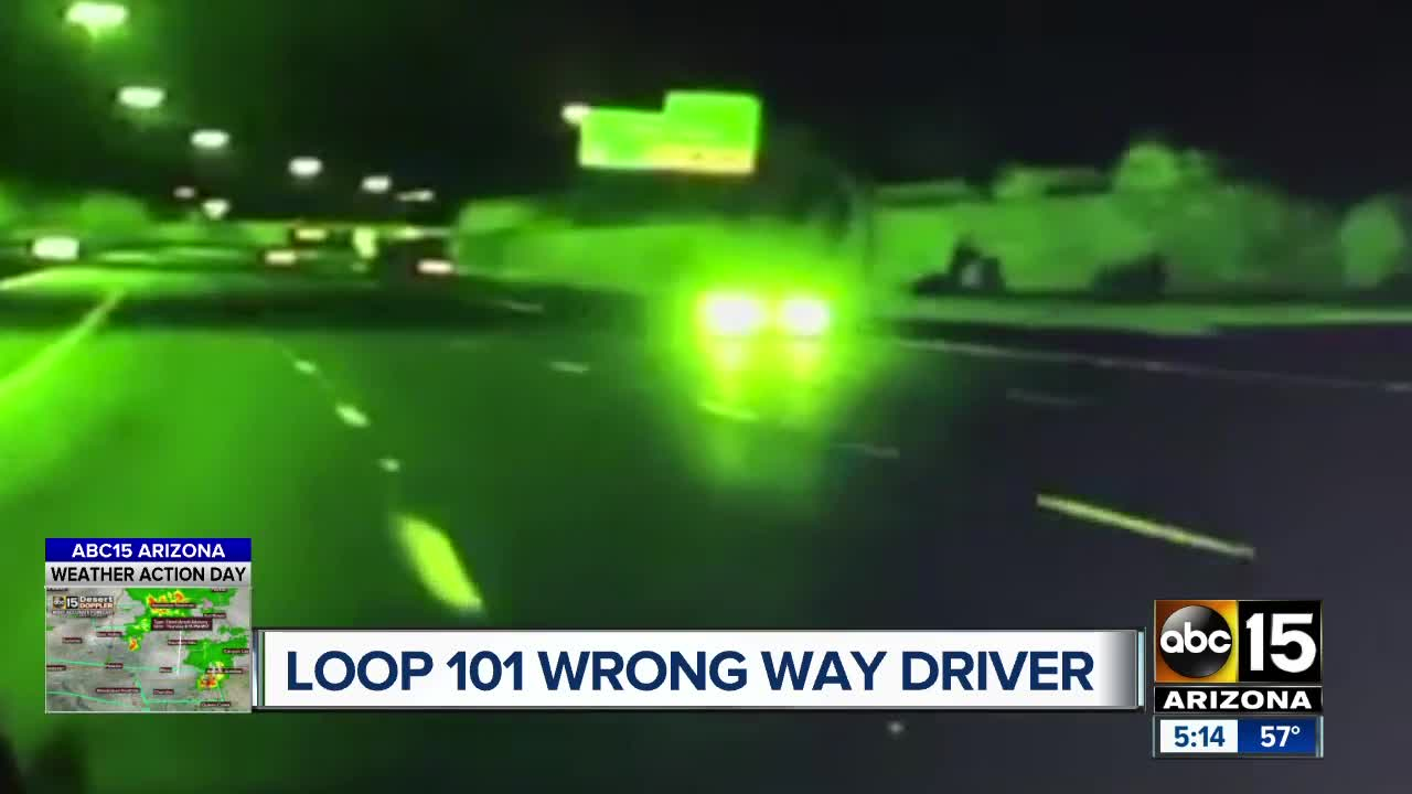 Wrong-way driver stopped near L-101 and Broadway Road