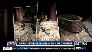 Las Vegas Police discuss change in timeline of mass shooting events - Video