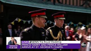 Prince Harry and Prince William arrive for Royal Wedding
