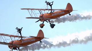 The Breitling Wingwalkers Throw A Spectacular Aerial Acrobatics Show - Video