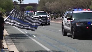 Procession held for fallen Chandler police officer