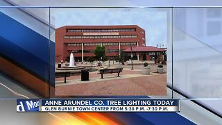 Glen Burnie Town Center Christmas tree lighting - Video