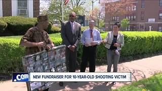Community raising money for 10-year-old shooting victim - Video
