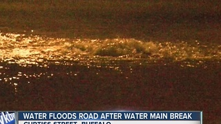 Large water main break in Buffalo - Video