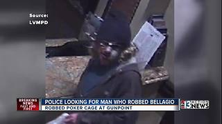 Police release pictures of alleged Bellagio robber - Video