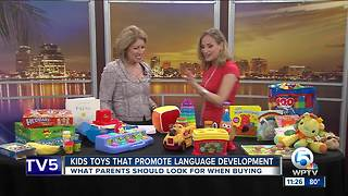 Toys can promote language development in young children - Video