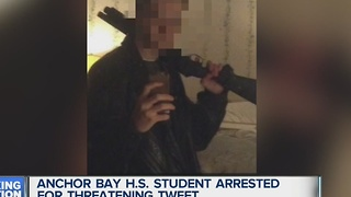Anchor Bay student arrested for threatening tweet - Video