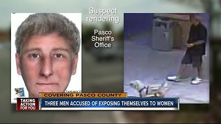 Three men accused of exposing themselves to women - Video