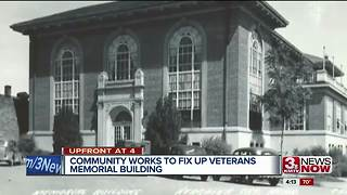 Volunteers help to raise money and clean up old Veterans Building in Nebraska City - Video