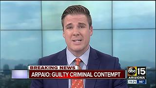 Judge rules Sheriff Joe Arpaio guilty in criminal contempt case - Video