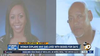 Woman explains why she lived with bodies for days - Video