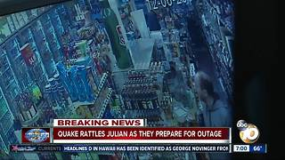 Surveillance video shows Julian earthquake - Video
