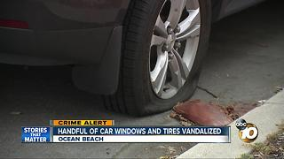 Handful of car windows and tires vandalized - Video