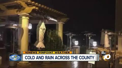 Cold and rain across the County
