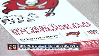 Long-time Bucs season ticket holders lose tickets