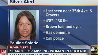 Silver Alert issued for 68-year-old Phoenix woman Pauline Solorio - Video