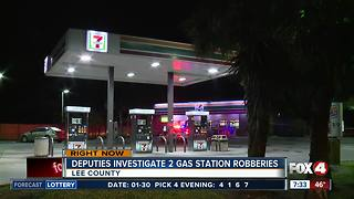 Early morning armed robberies believed to be connected