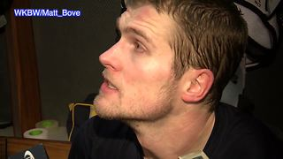 Falk reacts to heated exchange at Sabres practice - Video