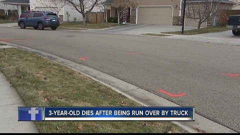 Neighbors visit tragic scene where 3-year-old died in truck collision