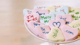 Homemade Conversation Hearts - Video