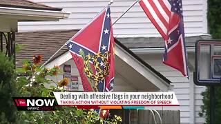Dealing with offensive flags in your neighborhood - Video