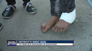 13-year-old boy shot inside Detroit home overnight