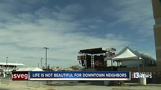 Life is Beautiful concerns people living downtown - Video