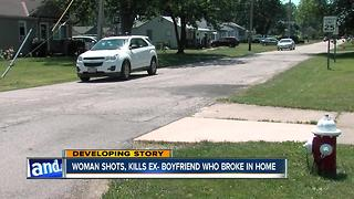 Police: Woman shoots ex-boyfriend after he breaks into home - Video