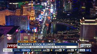 Caesars stock plunges on Tuesday - Video