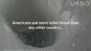 How Much Toilet Paper Americans Use - Video
