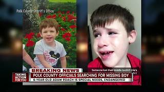 Polk deputies searching for missing, endangered 6-year-old boy with special needs - Video