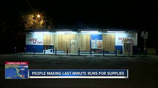 People making last minute runs for supplies