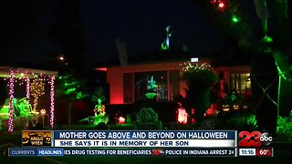 Mother goes above and beyond on Halloween