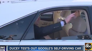 Gov. Ducey gets test-drive in self-driving car - Video