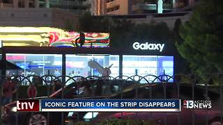 Iconic feature on strip temporarily replaced with store - Video