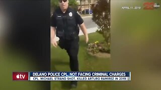 Delano Police officer not facing criminal charges following shooting