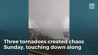 Camera Captures Incredible Footage Of Waterspout Over Fort Walton Beach - Video