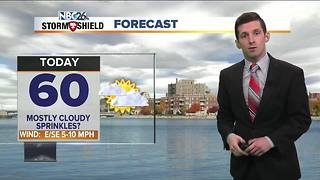Rather cloudy with afternoon drizzle today - Video