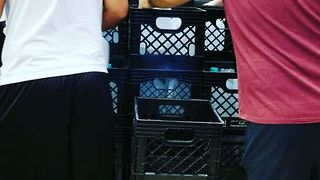 Customers Scramble for Water at Coral Gables Grocery Store