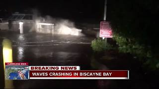 Winds and raining hitting Biscayne Bay - Video