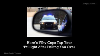 Ever Wonder Why Police Officers Tap Your Taillight - Video
