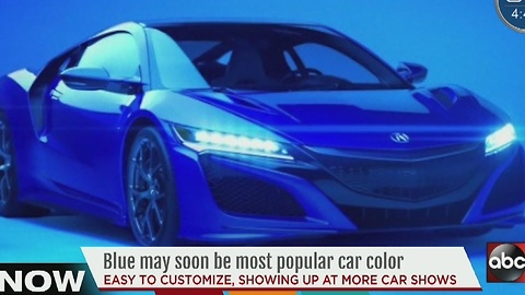 Blue may soon be most popular car color